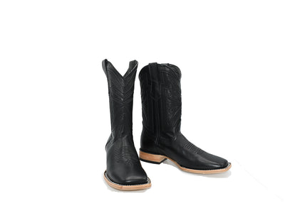 Classic Square Toe Boot Mestizo Black