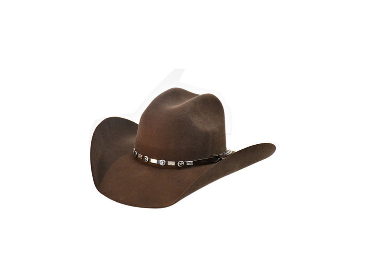 "Exclusive "" Austin "" Texas Country Western Felt Cowboy Hat Dark Brown"