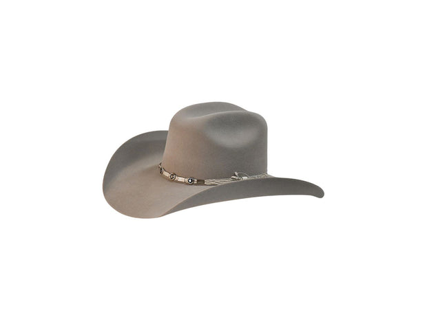 "Exclusive "" Austin "" Texas Country Western Felt Cowboy Hat Platinum"