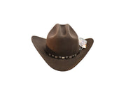 "Exclusive ""Sinaloa"" Texas Country Western Felt Cowboy Hat Dark Brown"