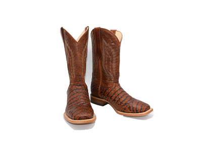 Veretta Leather Western Boot Belly Cognac