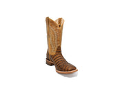 Veretta Leather Western Boot Belly Mantequilla