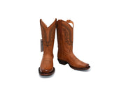 Veretta Womens Leather Western Boot Liga Cognac