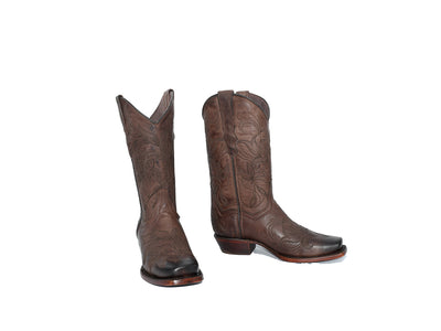 Veretta Womens Leather Western Boot Liga Choco