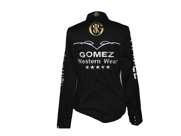Rodeo Carte Black Womens Long Sleeve Western Shirt