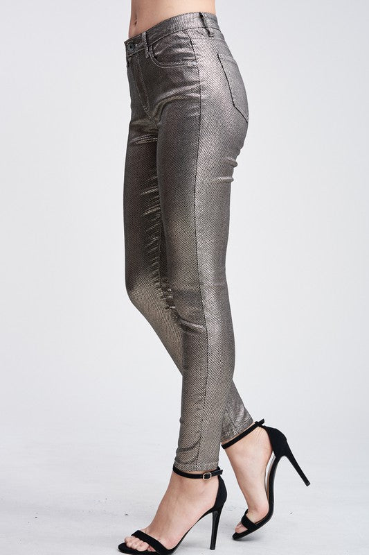 Metallic Silver Scale Pants - Hippie Vibe Tribe