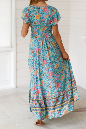 Bohemian Floral Maxi Dress - Hippie Vibe Tribe