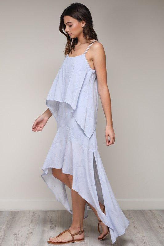 Hi-Low Ocean Blue Maxi - Hippie Vibe Tribe