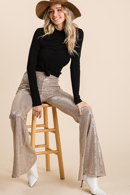 Sequence Rose Gold Hippie Pants - Hippie Vibe Tribe