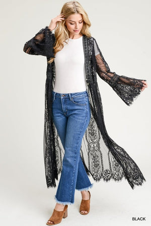 Red Body Lace Cardigan - Hippie Vibe Tribe