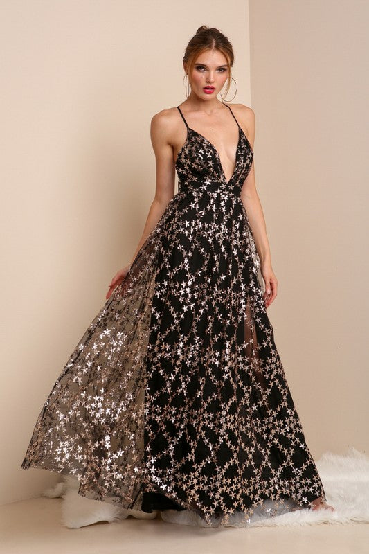 Stars Shimmery Gown - Hippie Vibe Tribe