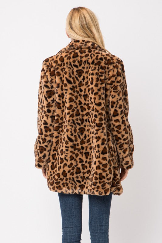Leopard Fur Jacket - Hippie Vibe Tribe