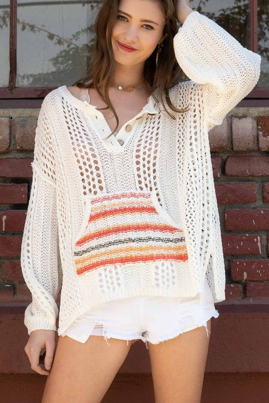 Rainbow Bohemian Sweater - Hippie Vibe Tribe