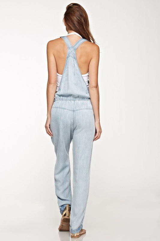 Denim Lightweight Overalls - Hippie Vibe Tribe