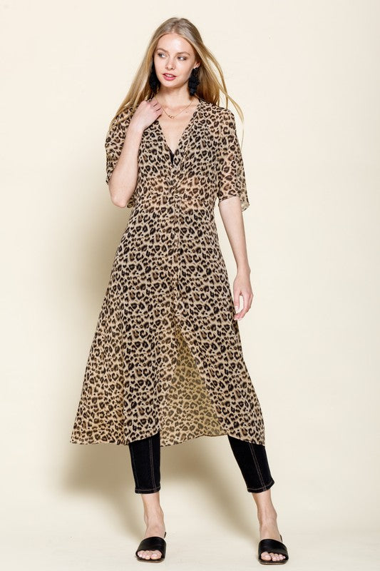 Leopard Front Cover-Up - Hippie Vibe Tribe