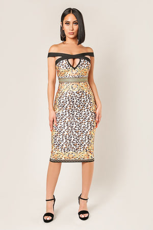 Leopard Bandage Dress - Hippie Vibe Tribe