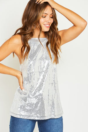 Shimmery Sequin Halter - Hippie Vibe Tribe