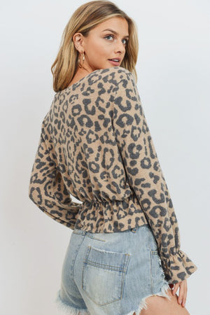 Cheetah Print Blouse - Hippie Vibe Tribe