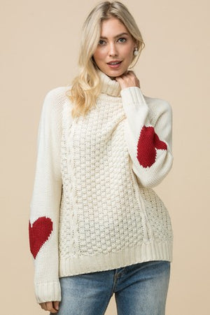 Romantic Heart Sweater - Hippie Vibe Tribe