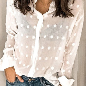 Dotted Front Colar Shirt - Hippie Vibe Tribe