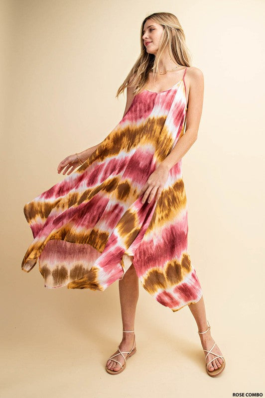 Bohemian Tie-Dye Scarf Dress - Hippie Vibe Tribe