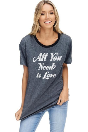 """All You Need Is Love"" T-Shirt - Hippie Vibe Tribe"
