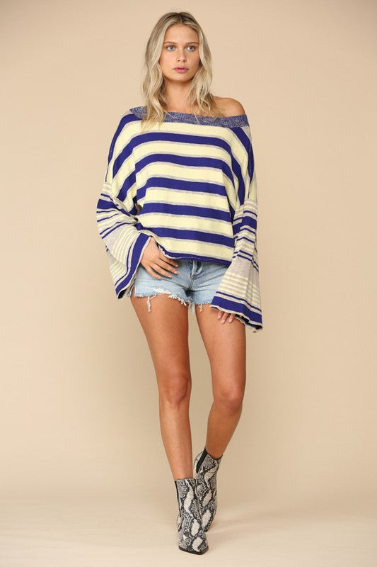 Gorgeous Stripped Sweater Top - Hippie Vibe Tribe