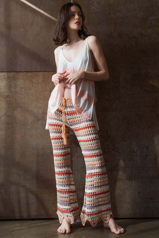 Striped Knitted Pants - Hippie Vibe Tribe