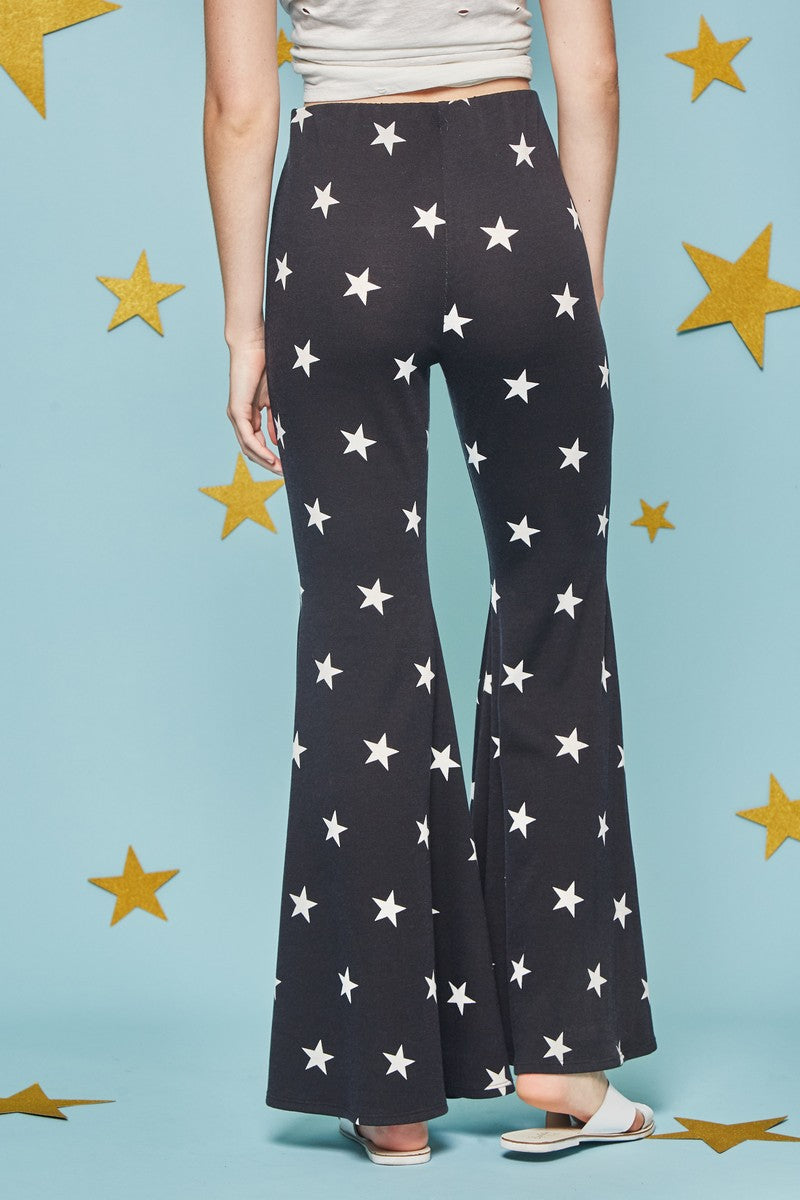 Hippie Girl Starry Bell Bottoms - Hippie Vibe Tribe