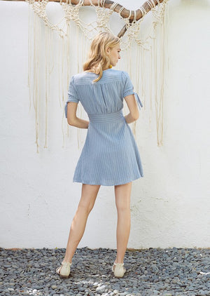 Sky Blue Mini Dress - Hippie Vibe Tribe