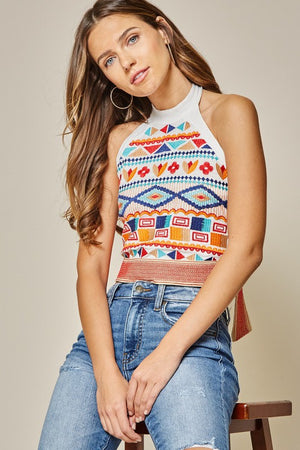 Bohemian Embroidered Halter