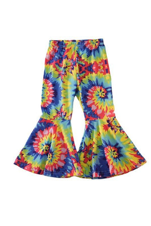 Hippie Kids Tie Dye Bell Bottom Pants