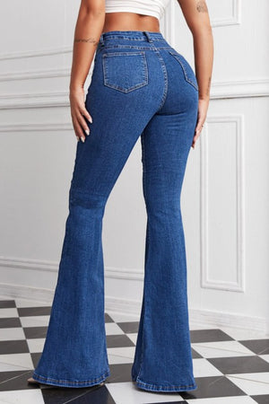 Butterfly Patched Flare Jeans