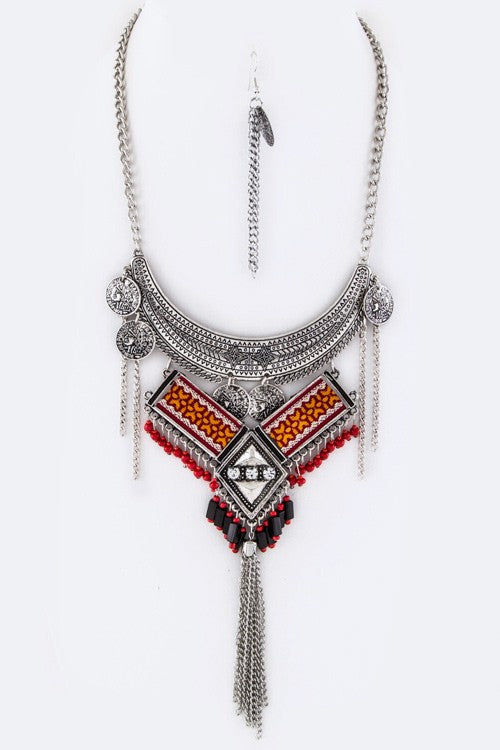 Bohemian Christine Red Necklace - Hippie Vibe Tribe