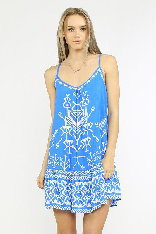 Pierce Print Mini Dress - Hippie Vibe Tribe