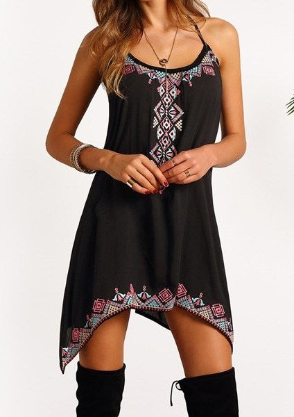 Little Black Bohemian Dress - Hippie Vibe Tribe