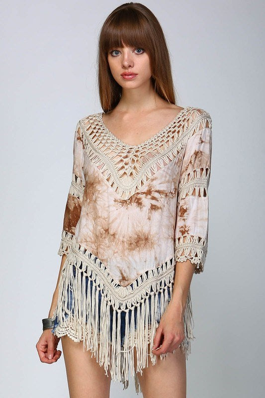 Crocheted Tie-Dye Tunic - Hippie Vibe Tribe