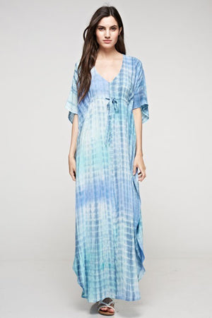 Baby Blue Tie-Front Maxi - Hippie Vibe Tribe