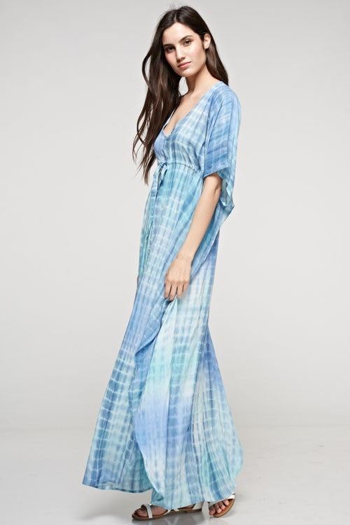Caftan Tie-Front Maxi - Hippie Vibe Tribe