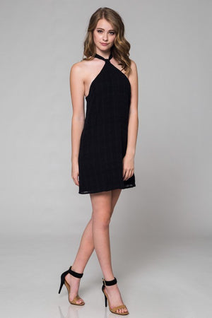 Halter Black Dress - Hippie Vibe Tribe