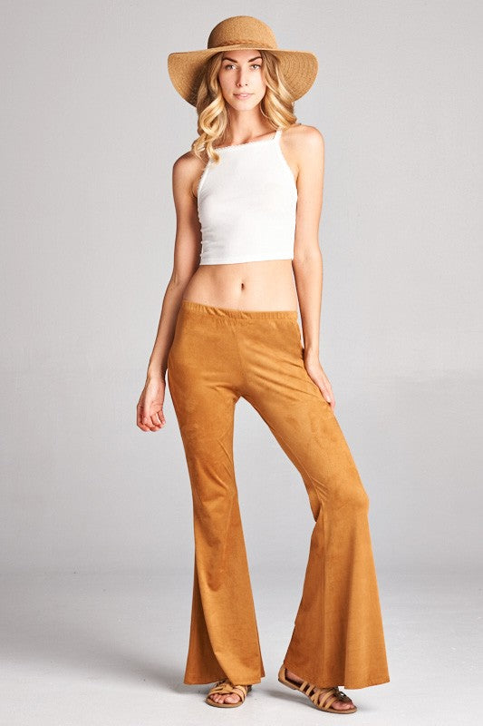 Hippie Faux Suede Bell Bottoms - Hippie Vibe Tribe