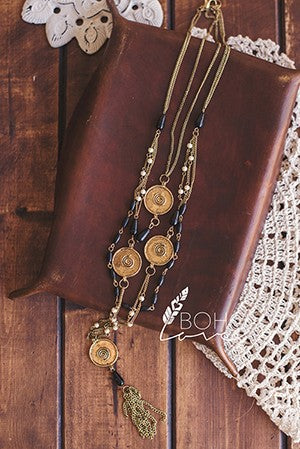 Bohemian Antique Layered Necklace - Hippie Vibe Tribe