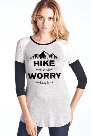 Hike More Worry Less T-Shirt - Hippie Vibe Tribe