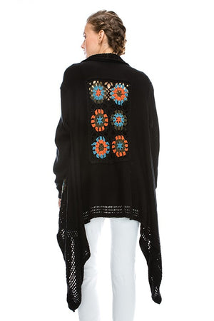 Embroidered Cardigan - Hippie Vibe Tribe