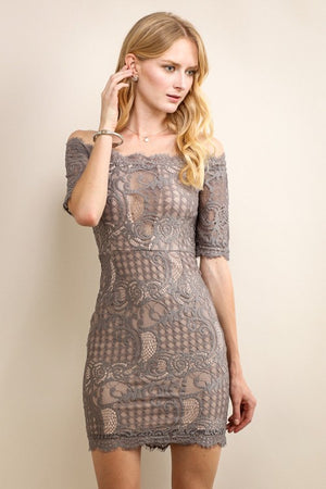 Lace Shoulder Dress - Hippie Vibe Tribe