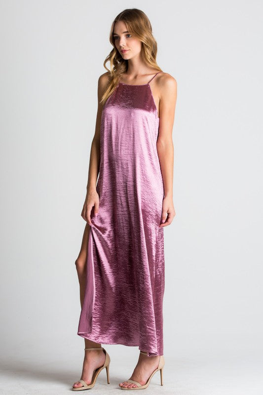 Velvety Halter Maxi Dress - Hippie Vibe Tribe