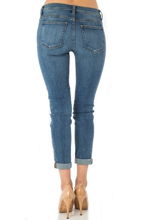 Embroidered Patched Denim Jeans - Hippie Vibe Tribe