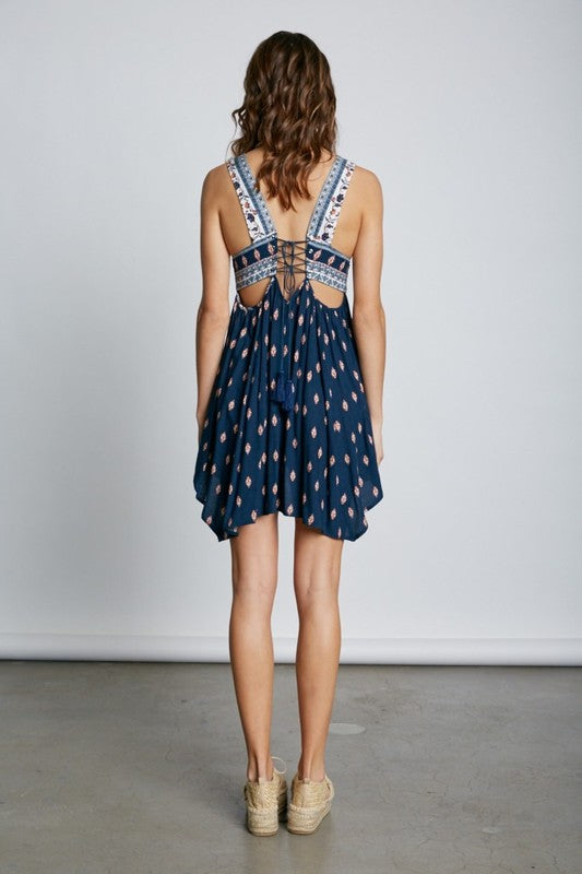 Sexy Asymmetric Hem, Lace Back Dress - Hippie Vibe Tribe