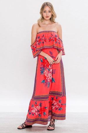Gypsy Floral Off-Shoulder Dream - Hippie Vibe Tribe