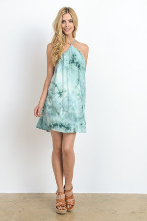 Tie-Dye Halter Dress - Hippie Vibe Tribe